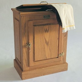 Woodworking Project Paper Plan to Build Hamper, Plan No. 793