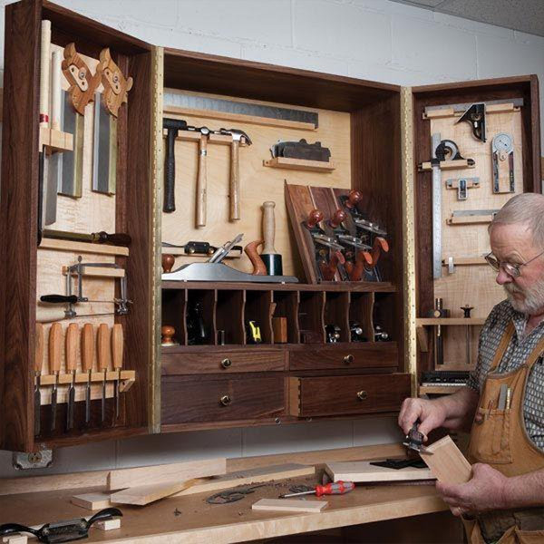 Captivating View A Larger Image Of Woodworking Project Paper Plan To Build Hand Tool  Cabinet