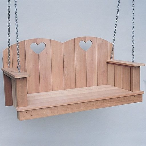 View a Larger Image of Woodworking Project Paper Plan to Build Hanging Loveseat, Plan No. 780