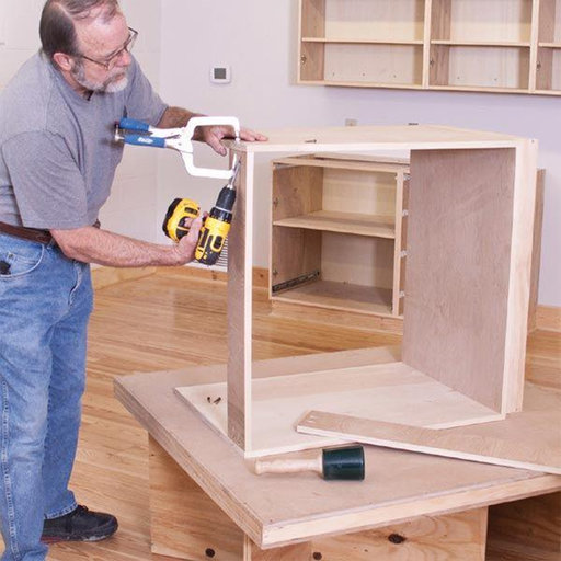 View a Larger Image of Woodworking Project Paper Plan to Build Hassle Free Workshop Cabinets