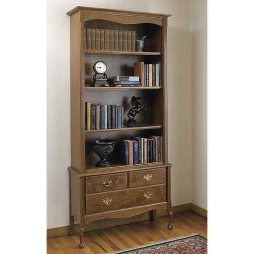 View a Larger Image of Woodworking Project Paper Plan to Build Heirloom Bookcase