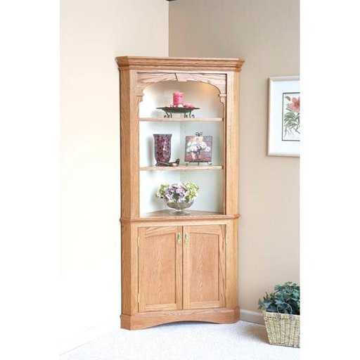 View a Larger Image of Woodworking Project Paper Plan to Build Heirloom Corner Cabinet