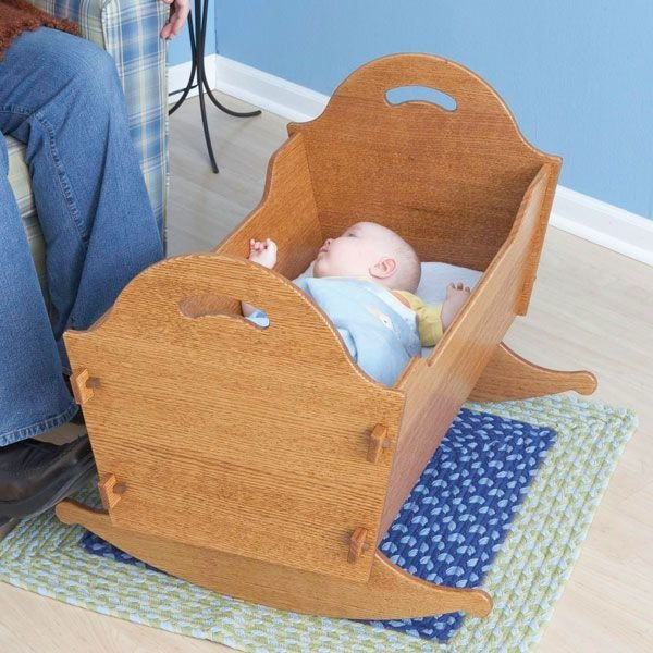 View A Larger Image Of Woodworking Project Paper Plan To Build Heirloom Cradle With Storage Box