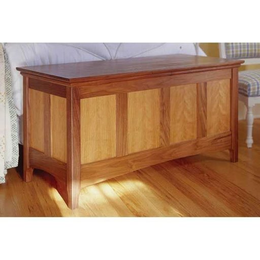 View a Larger Image of Woodworking Project Paper Plan to Build Heirloom Hope Chest