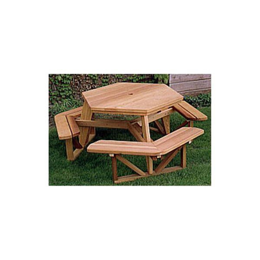 View a Larger Image of Woodworking Project Paper Plan to Build Hexagon Picnic Table