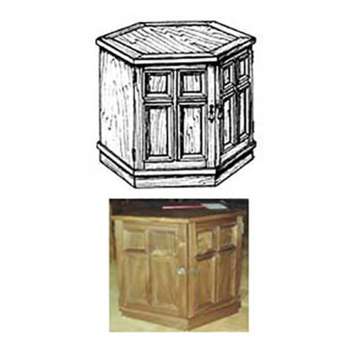 View a Larger Image of Woodworking Project Paper Plan to Build Hexagonal End Table