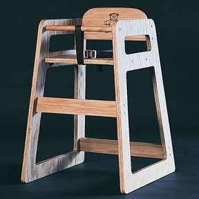Woodworking Project Paper Plan to Build High Chair, No. 820