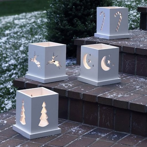 View a Larger Image of Woodworking Project Paper Plan to Build Holiday Luminarias