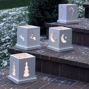 Woodworking Project Paper Plan to Build Holiday Luminarias