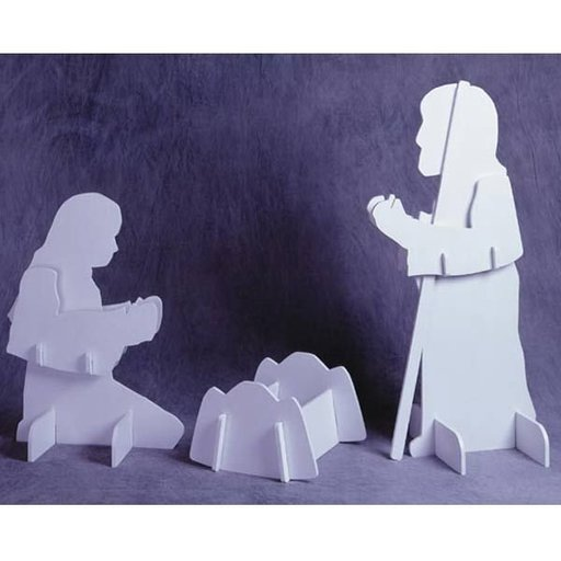 View a Larger Image of Woodworking Project Paper Plan to Build Holy Family, Plan No. 924