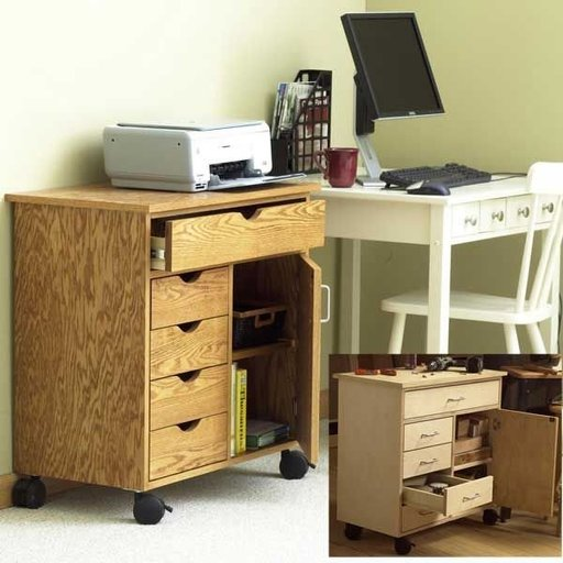 View a Larger Image of Woodworking Project Paper Plan to Build Home/Shop Storage Cart