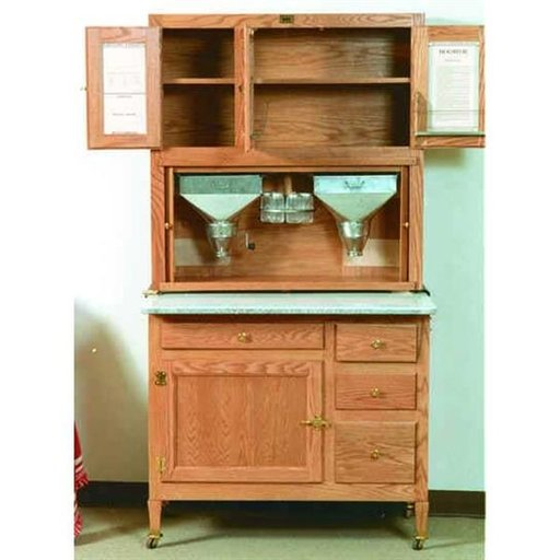 View a Larger Image of Woodworking Project Paper Plan to Build Hoosier Kitchen Cabinet, AFD315