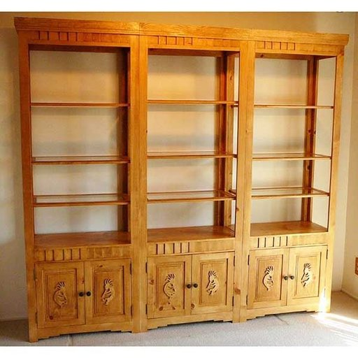 View a Larger Image of Woodworking Project Paper Plan to Build Indian Pueblo Bookcase