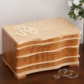 Woodworking Project Paper Plan to Build Jewelry Box