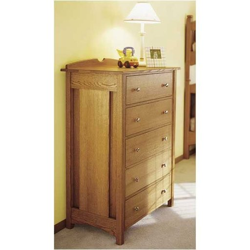 View a Larger Image of Woodworking Project Paper Plan to Build Kid's Oak Dresser