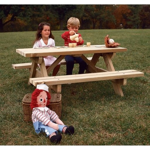 View a Larger Image of Woodworking Project Paper Plan to Build Kid's Picnic Table