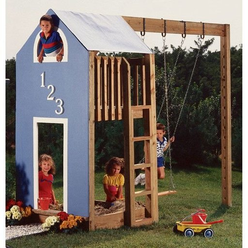 View a Larger Image of Woodworking Project Paper Plan to Build Kid's Play Structure