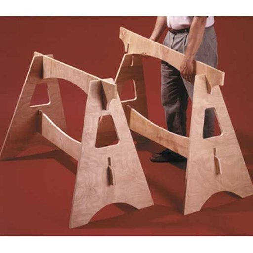 View a Larger Image of Woodworking Project Paper Plan to Build Knockdown Sawhorses