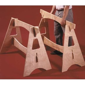 Woodworking Project Paper Plan to Build Knockdown Sawhorses