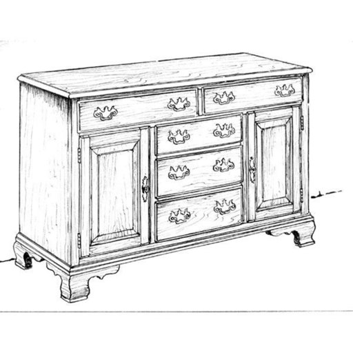 View a Larger Image of Woodworking Project Paper Plan to Build Large Buffet