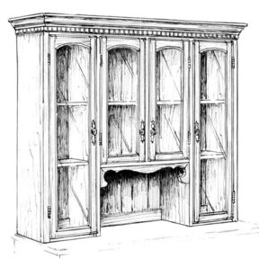 Woodworking Project Paper Plan to Build Large Hutch