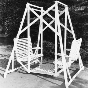 Woodworking Project Paper Plan to Build Lawn Glider Swing, Plan No. 276