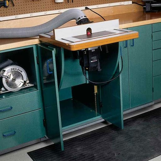 View a Larger Image of Woodworking Project Paper Plan to Build Lift-Up Router & Tool Table
