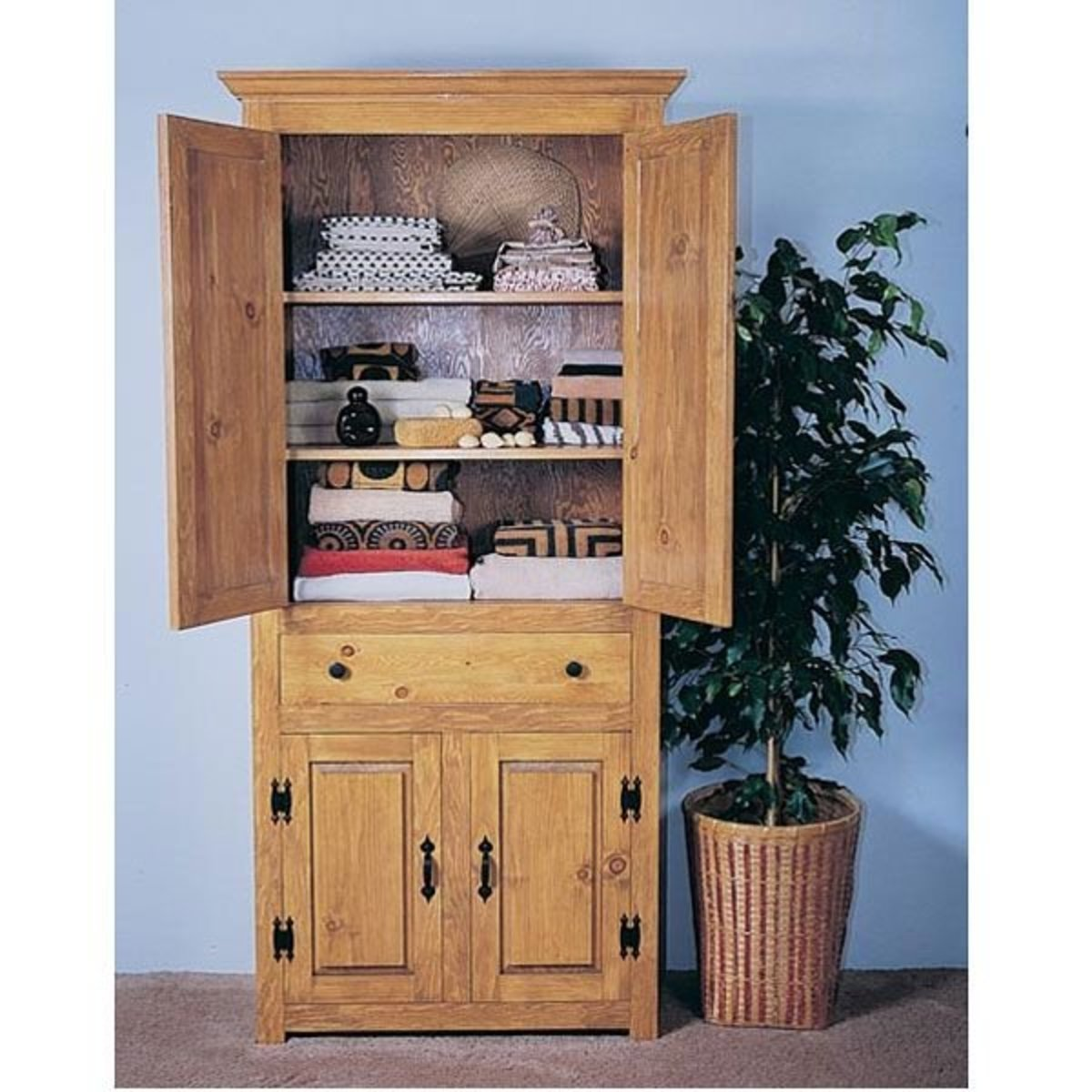 View A Larger Image Of Woodworking Project Paper Plan To Build Linen Closet No