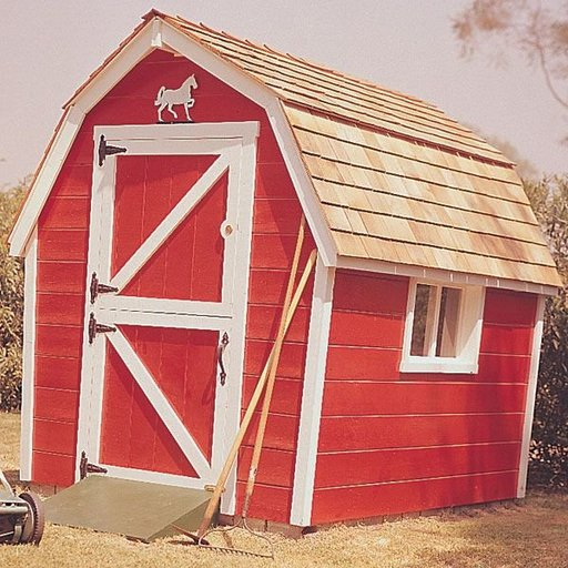 View a Larger Image of Woodworking Project Paper Plan to Build Little Red Barn, Plan No. 461