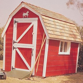 Woodworking Project Paper Plan to Build Little Red Barn, Plan No. 461