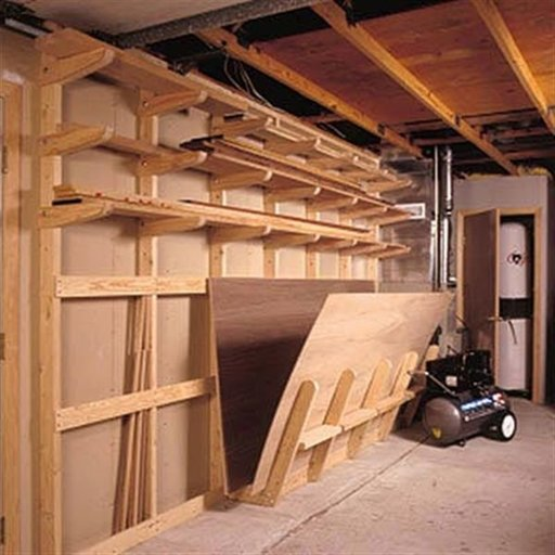 View a Larger Image of Woodworking Project Paper Plan to Build Lumber Storage Rack
