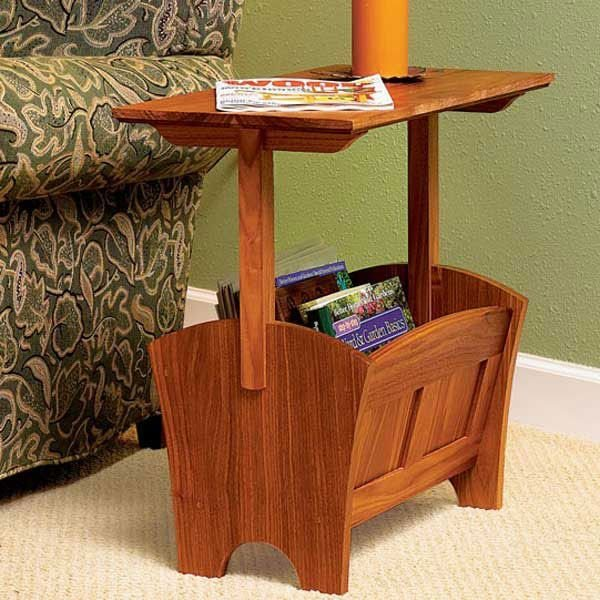 View A Larger Image Of Woodworking Project Paper Plan To Build Magazine Rack /Table