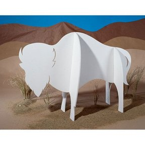 Woodworking Project Paper Plan to Build Majestic Buffalo