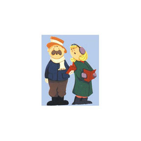 Woodworking Project Paper Plan to Build Man and Woman Carolers