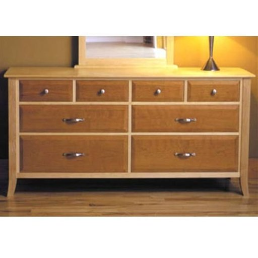 View a Larger Image of Woodworking Project Paper Plan to Build Maple & Cherry 8-Drawer Dresser