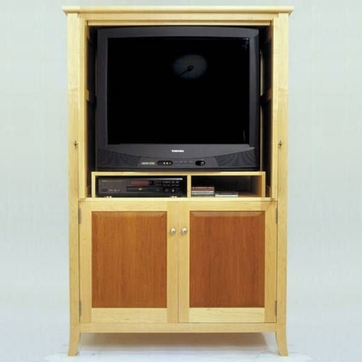 View a Larger Image of Woodworking Project Paper Plan to Build Maple & Cherry Armoir/Entertainment Center