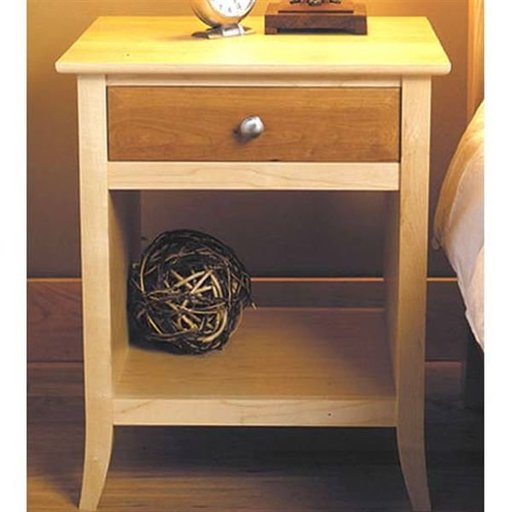 View a Larger Image of Woodworking Project Paper Plan to Build Maple & Cherry Nightstand