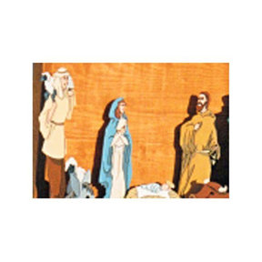 Woodworking Project Paper Plan to Build Mary, Joseph, Jesus, and Shephard