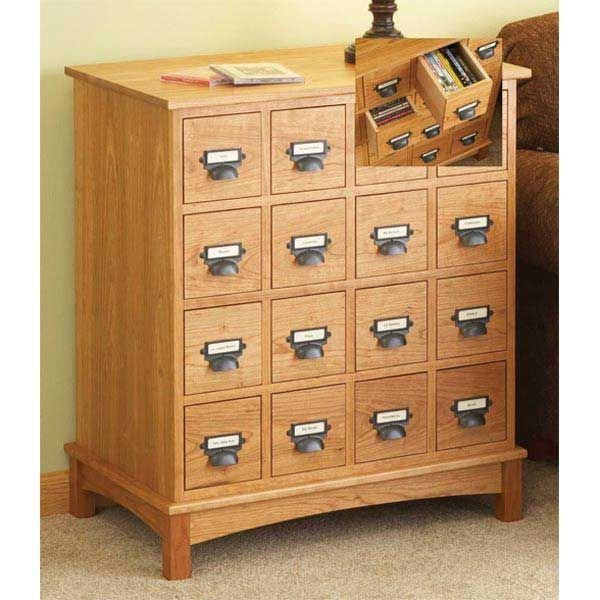 woodworking project paper plan to build media cabinet - Cd Storage Cabinet