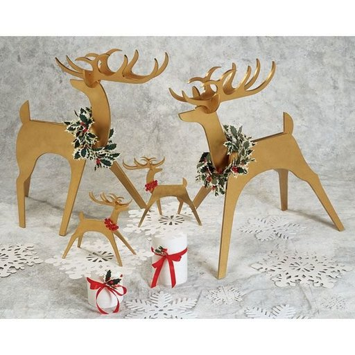 View a Larger Image of Woodworking Project Paper Plan to Build Medium & Tabletop Stylish Reindeer