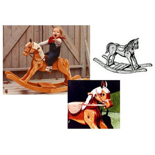 View a Larger Image of Woodworking Project Paper Plan to Build Merrilegs Rocking Horse