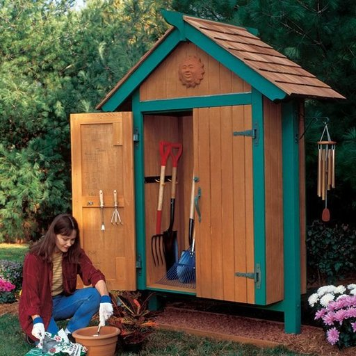 View a Larger Image of Woodworking Project Paper Plan to Build Mini Garden Shed
