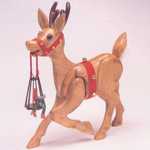 View a Larger Image of Woodworking Project Paper Plan to Build MINI Woodolph the Reindeer Patterns