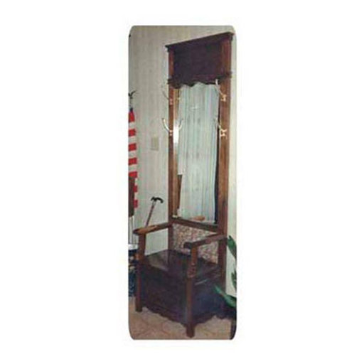 View a Larger Image of Woodworking Project Paper Plan to Build Mirrored Hall Tree