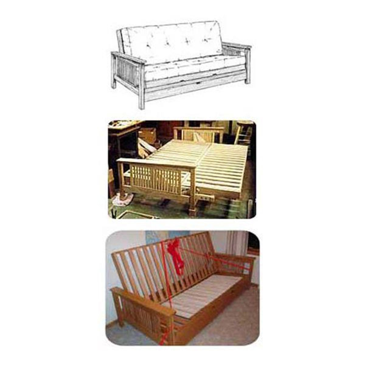 View A Larger Image Of Woodworking Project Paper Plan To Build Mission Couch Futon