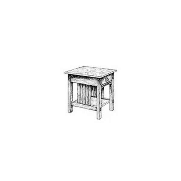 View A Larger Image Of Woodworking Project Paper Plan To Build Mission End  Table