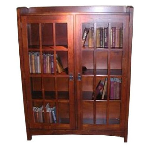 View a Larger Image of Woodworking Project Paper Plan to Build Mission Style 4-Shelf Bookcase, AFD289