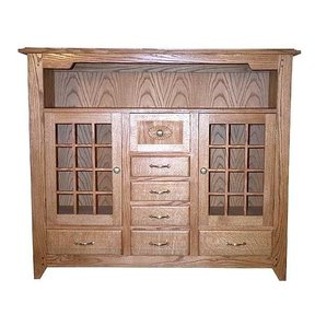 Woodworking Project Paper Plan to Build Mission Style Buffet, AFD154