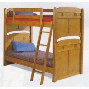 Woodworking Project Paper Plan to Build Mission Style Children's Bunk Beds, AFD233