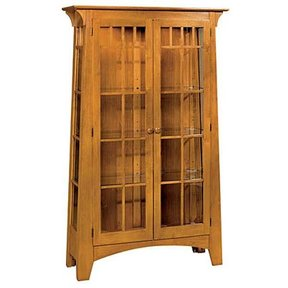 Woodworking Project Paper Plan to Build Mission Style Contemporary Curio Cabinet, AFD351